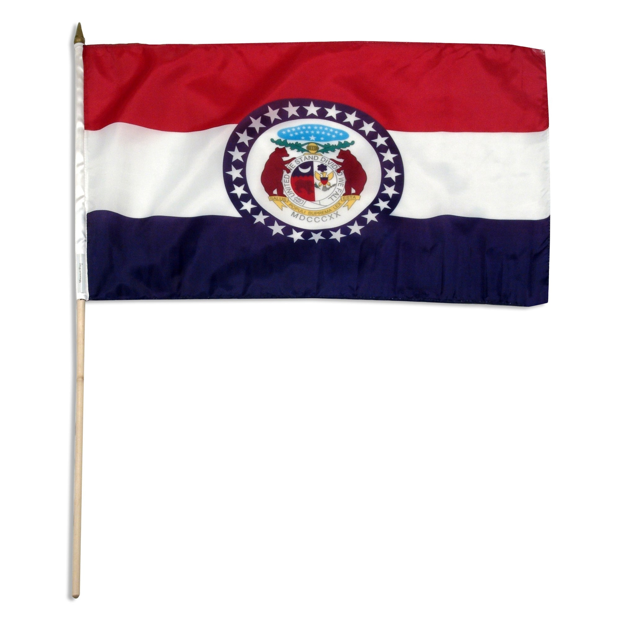 "Missouri  12"" x 18"" Mounted Flag"