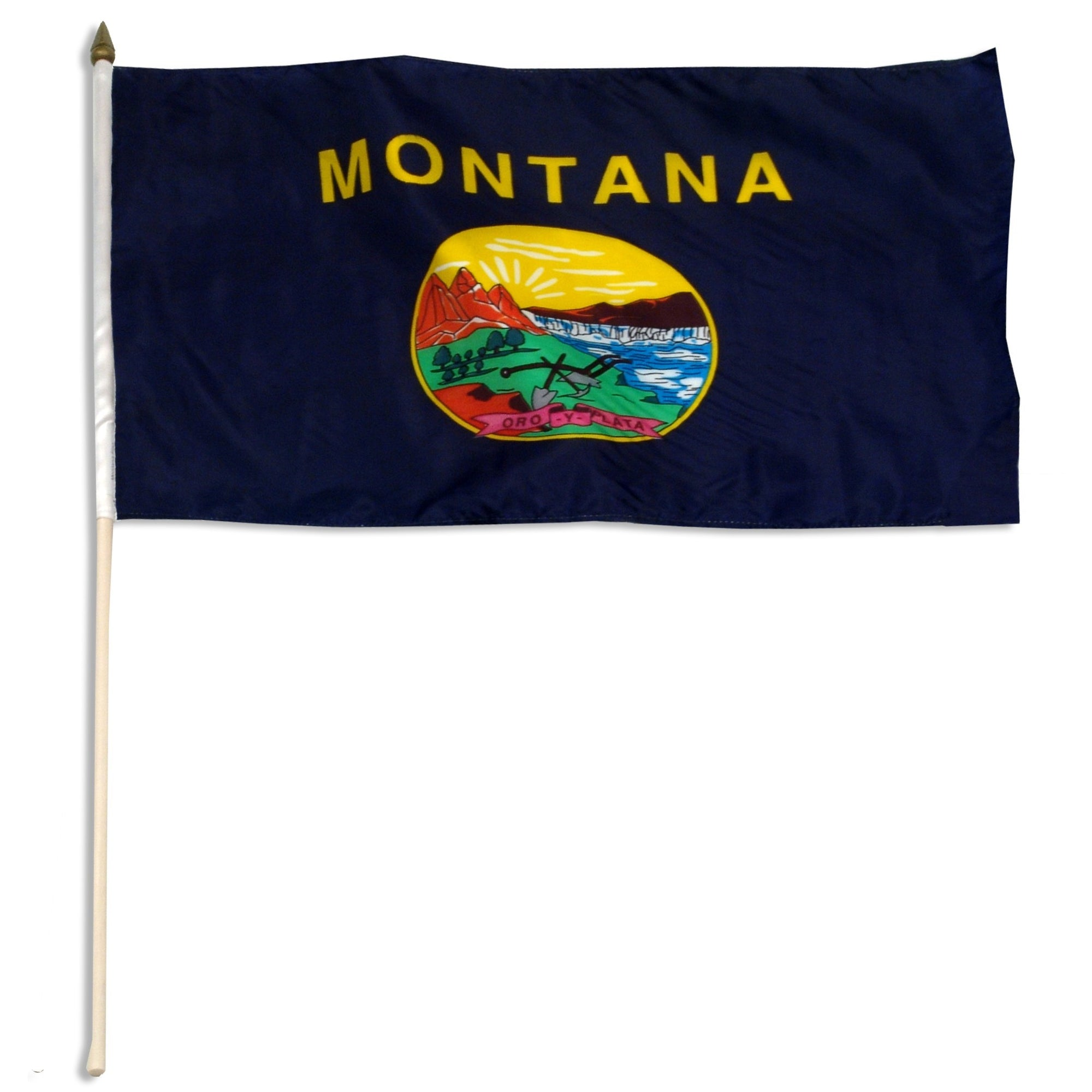 "Montana  12"" x 18"" Mounted Flag"