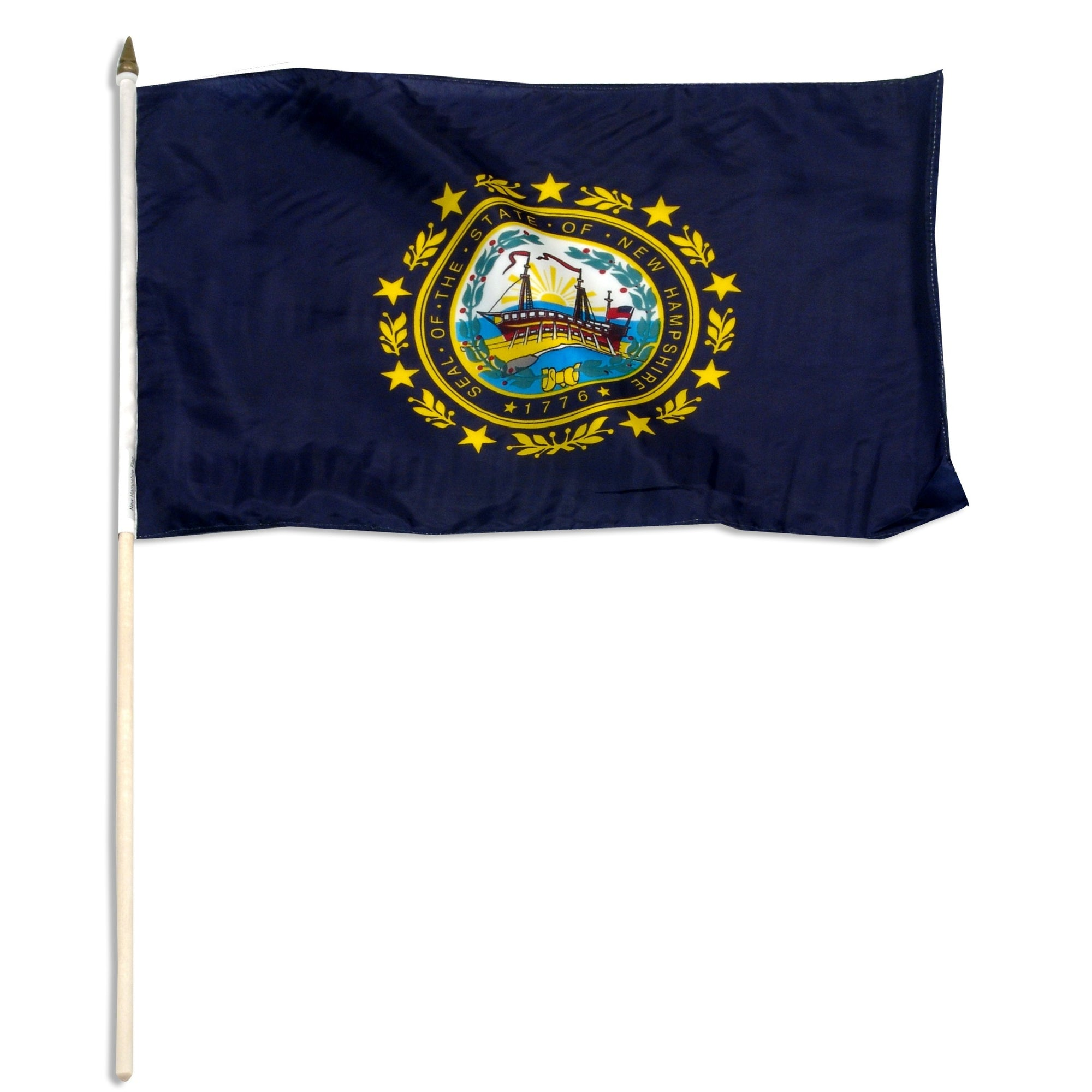 "New Hampshire  12"" x 18"" Mounted Flag"