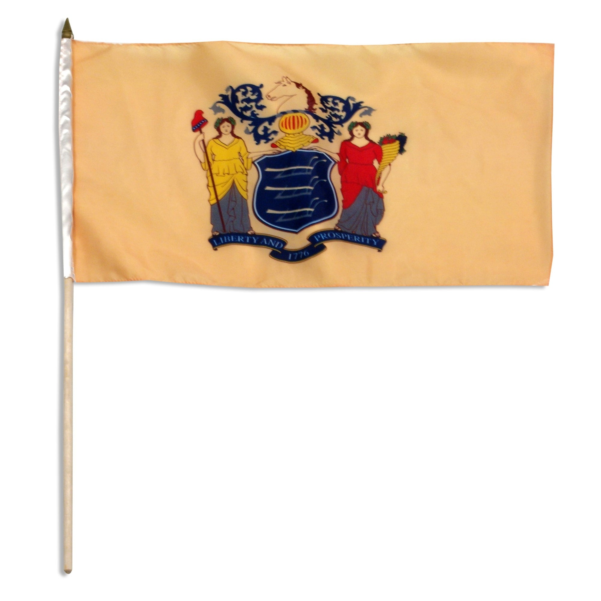 "New Jersey  12"" x 18"" Mounted Flag"