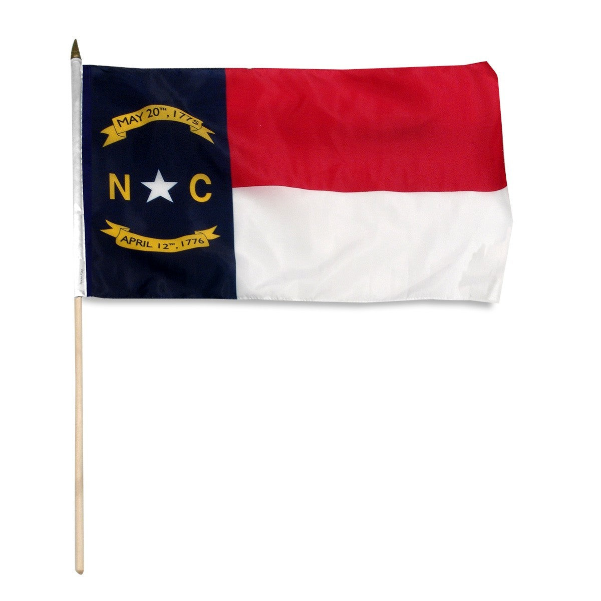 "North Carolina  12"" x 18"" Mounted Flag"