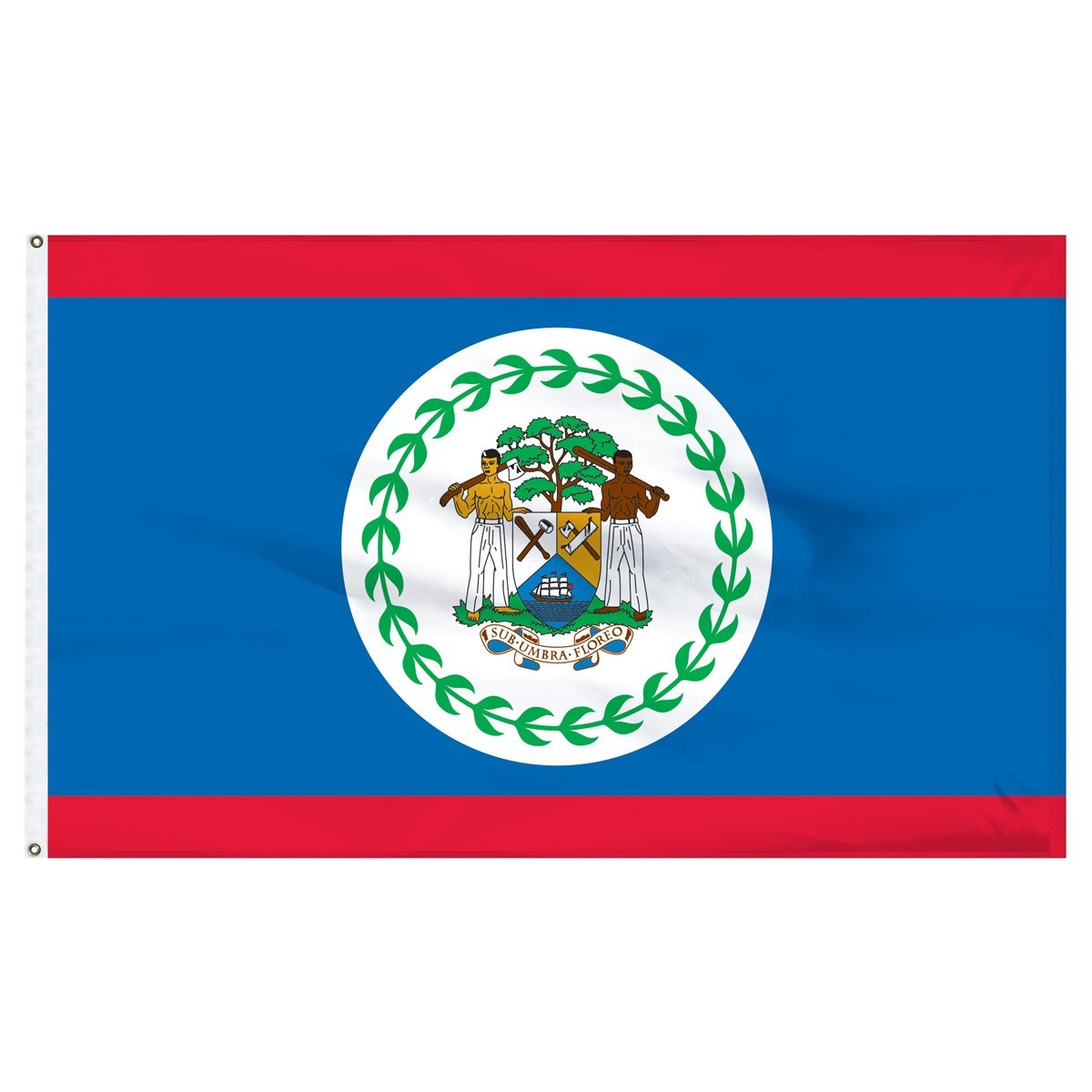Belize 5' x 8' Outdoor Nylon Country Flag