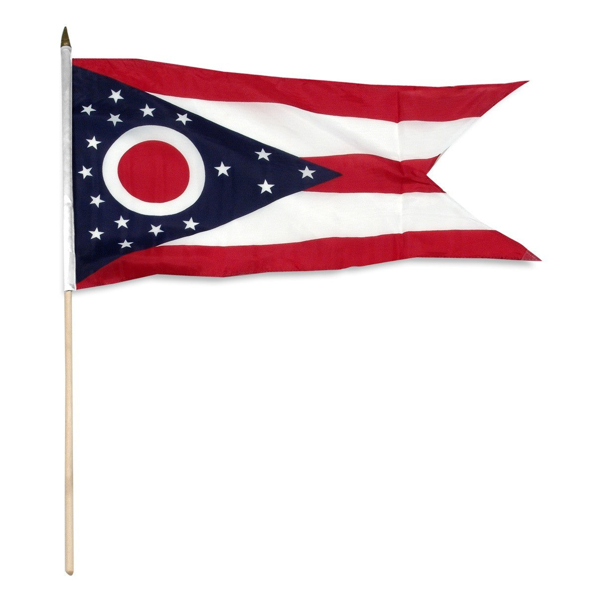 "Ohio  12"" x 18"" Mounted Flag"