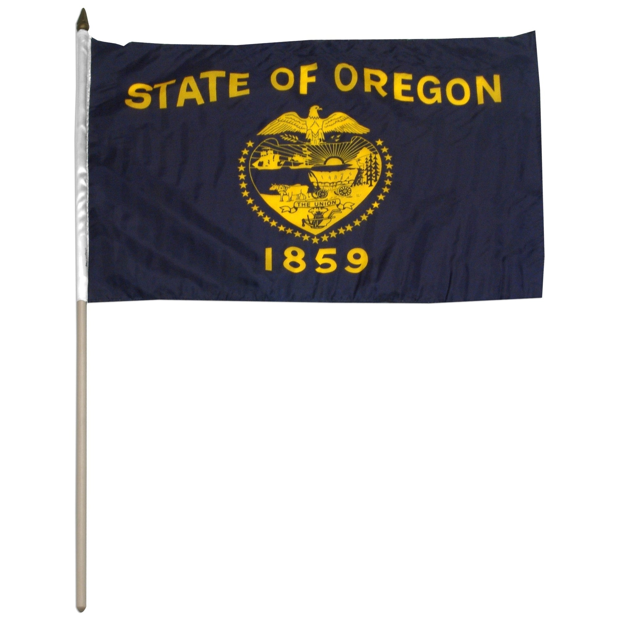 "Oregon  12"" x 18"" Mounted Stick Flag"