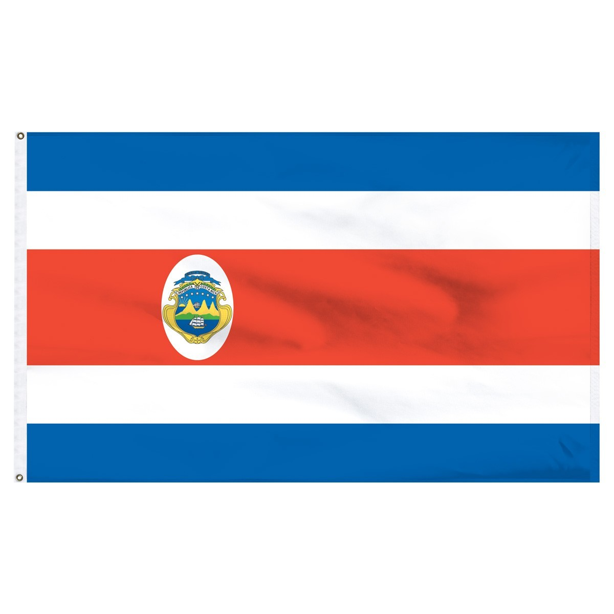 Costa Rica 5' x 8' Outdoor Nylon Flag
