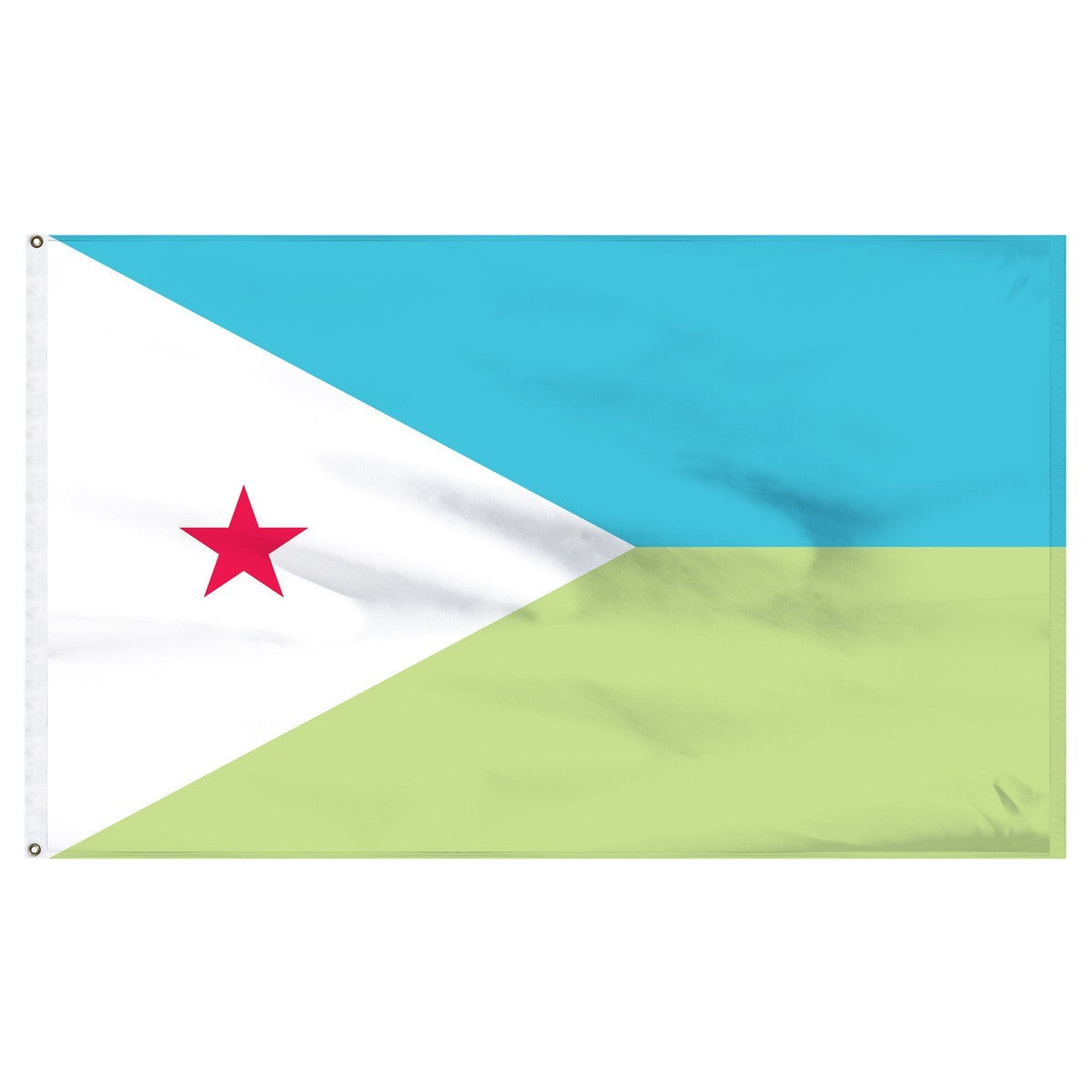 Djibouti 5' x 8' Outdoor Nylon Flag