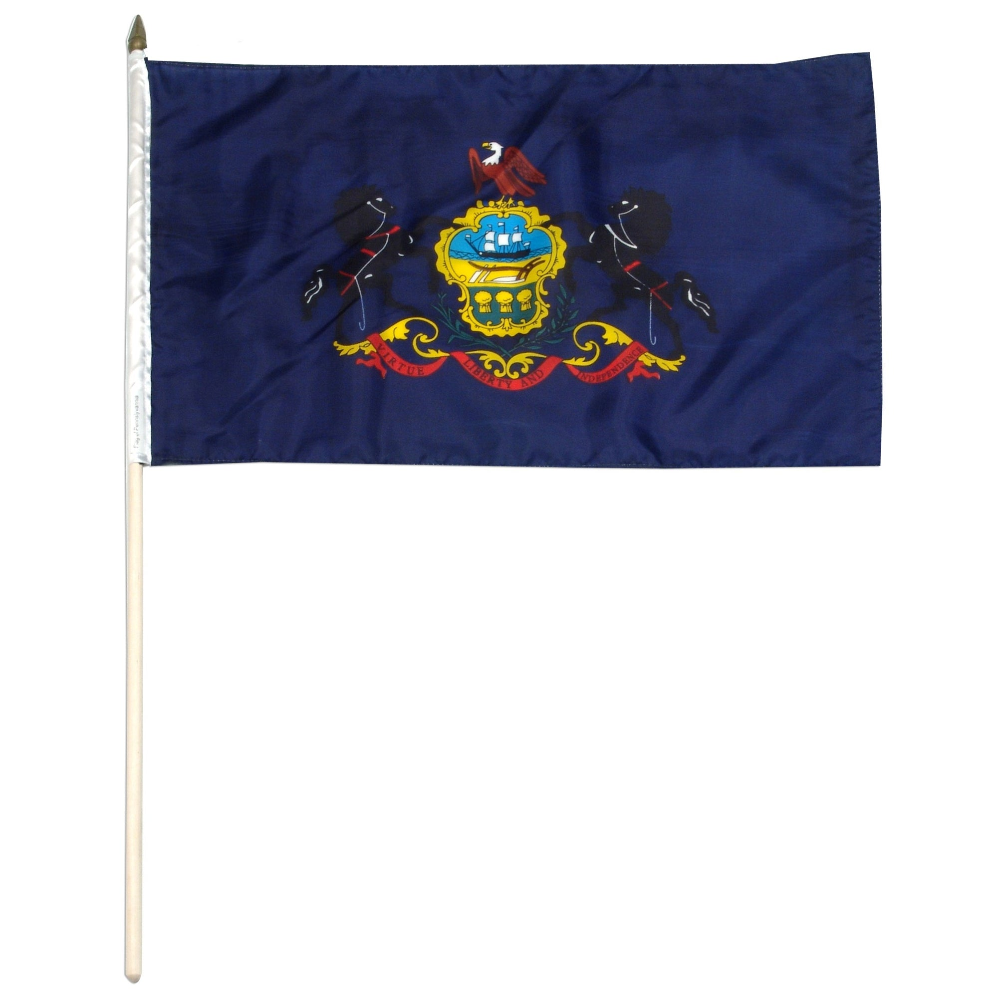 "Pennsylvania  12"" x 18"" Mounted Flag"
