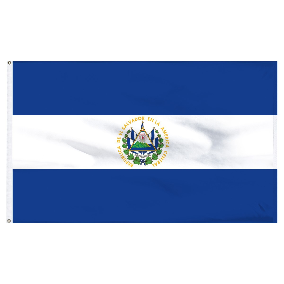 El Salvador 5' x 8' Outdoor Nylon Flag