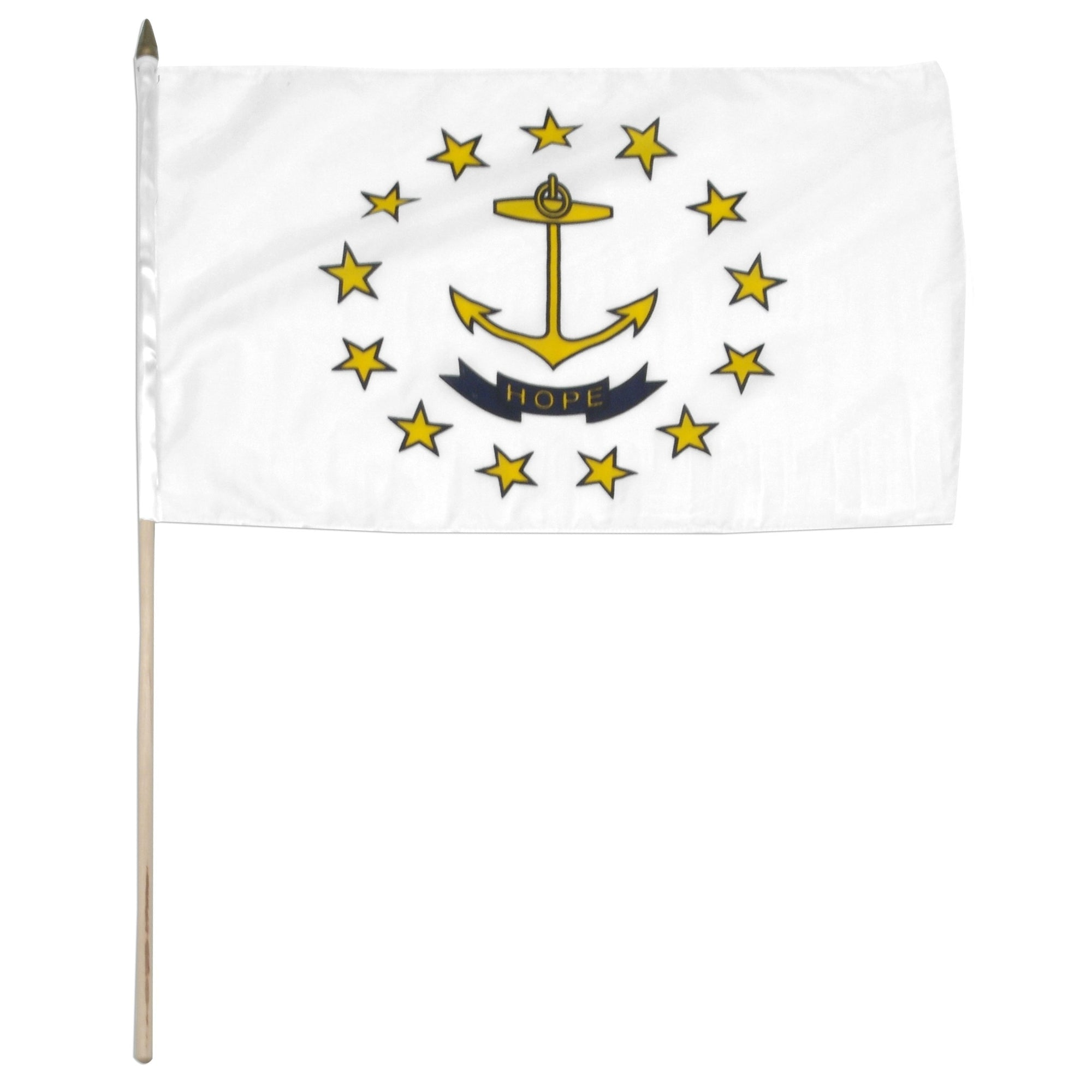 "Rhode Island  12"" x 18"" Mounted Flag"