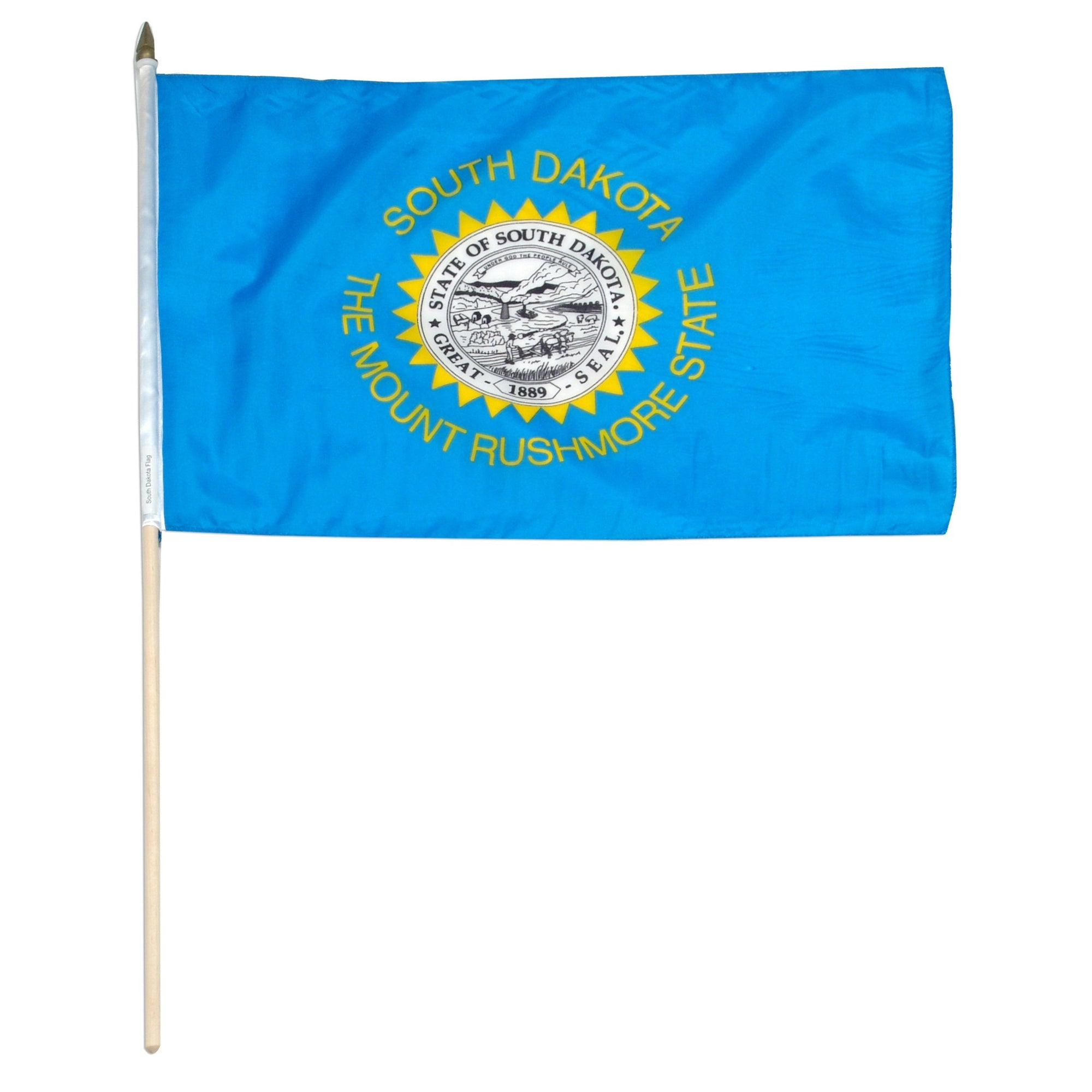 "South Dakota  12"" x 18"" Mounted Flag"