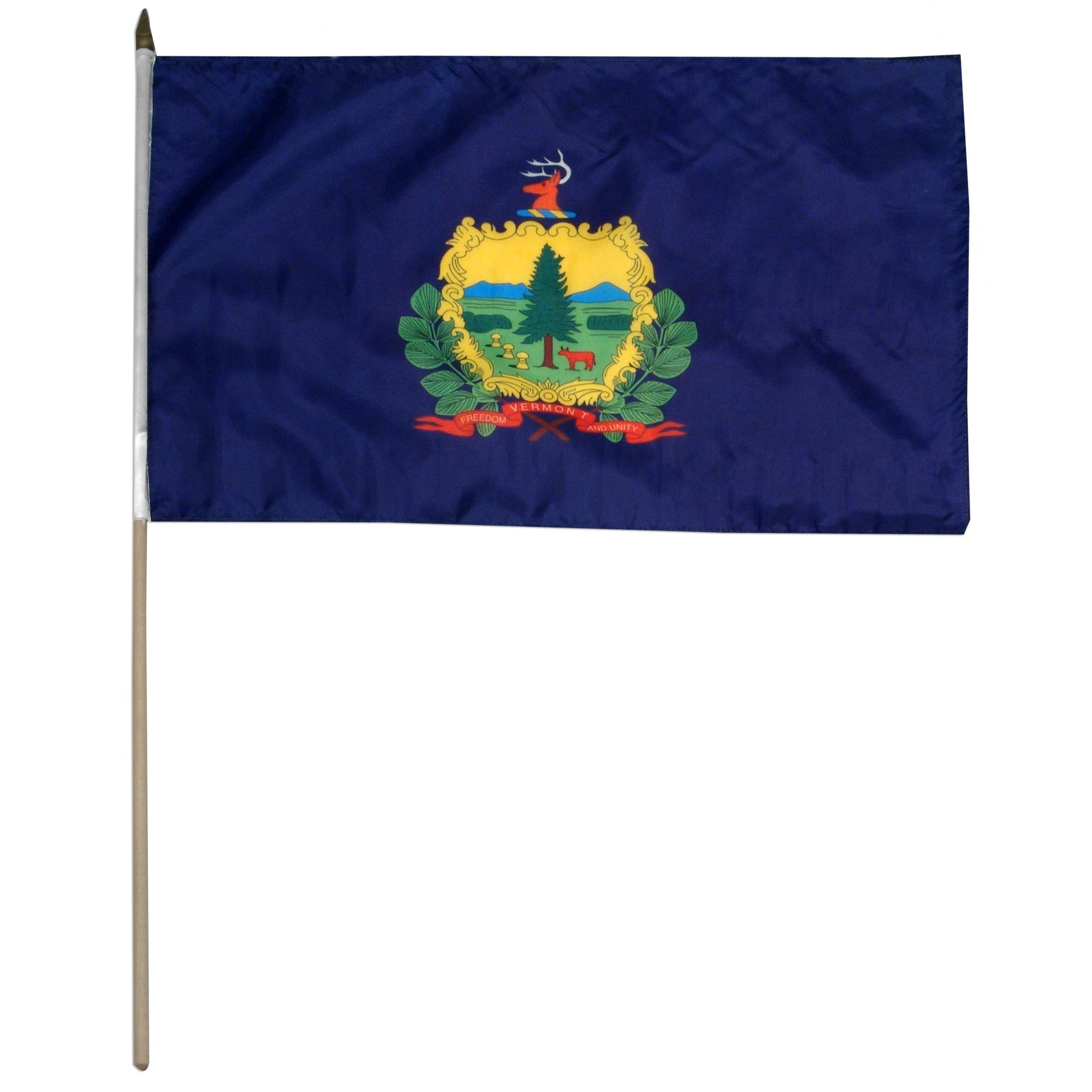 "Vermont  12"" x 18"" Mounted Flag"
