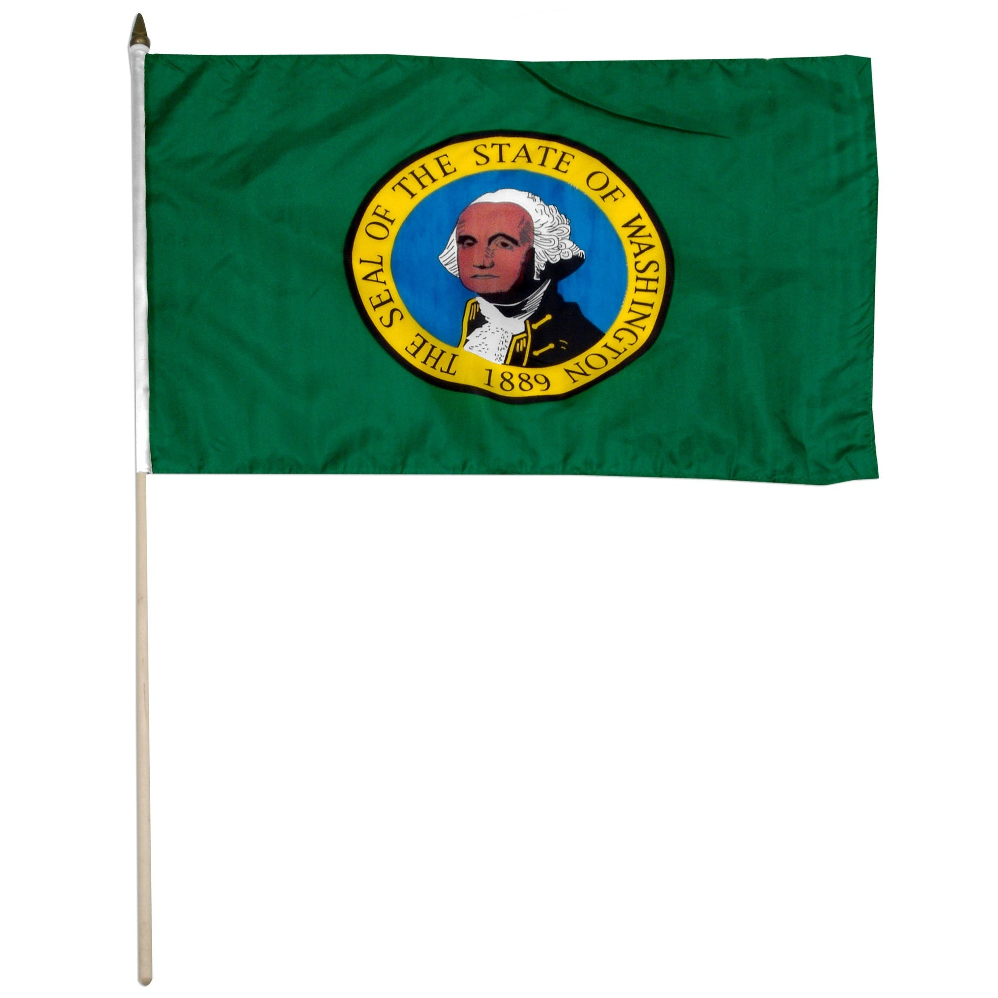 "Washington  12"" x 18"" Mounted Flag"