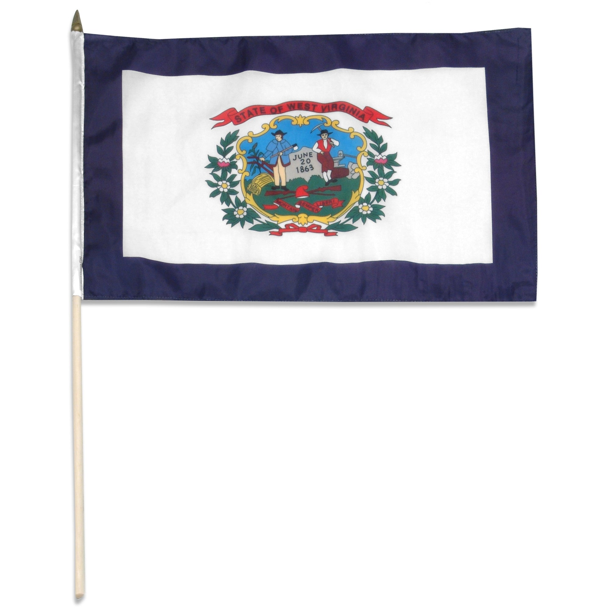 "West Virginia  12"" x 18"" Mounted Flag"