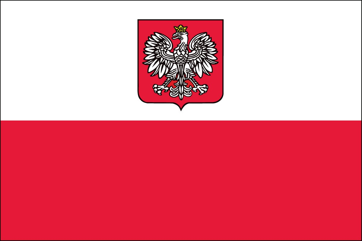 Poland w- Eagle 5' x 8' Outdoor Nylon Flag