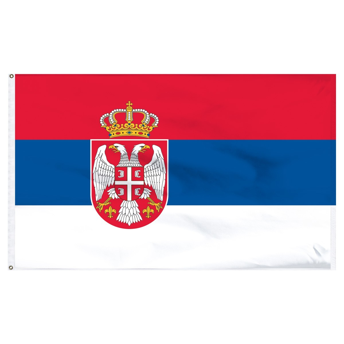 Serbia 5' x 8' Outdoor Nylon Flag