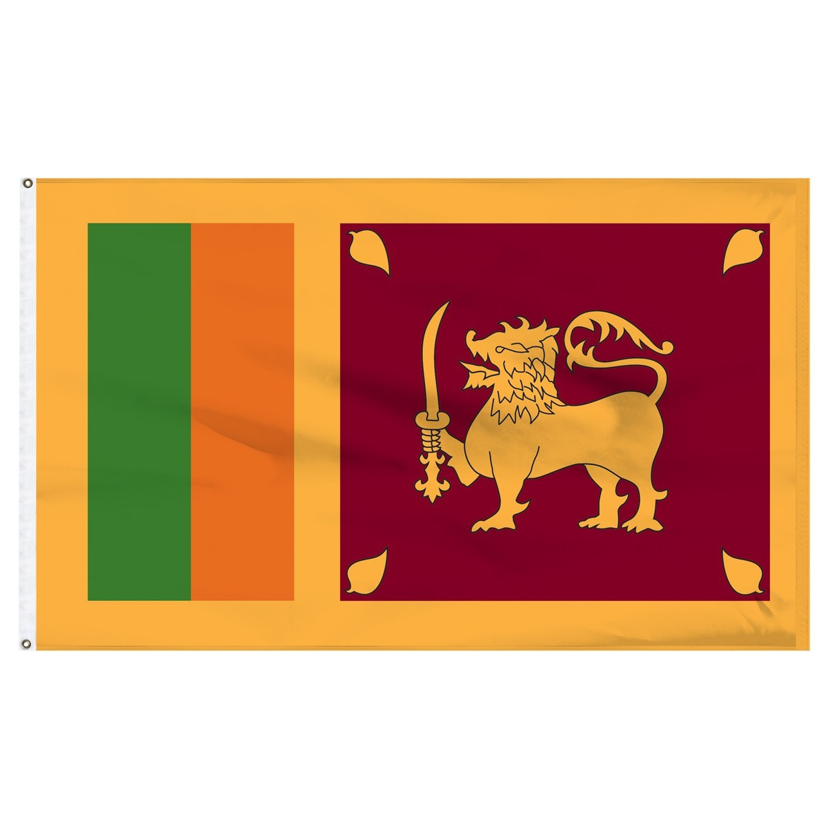 Sri Lanka 5' x 8' Outdoor Nylon Flag