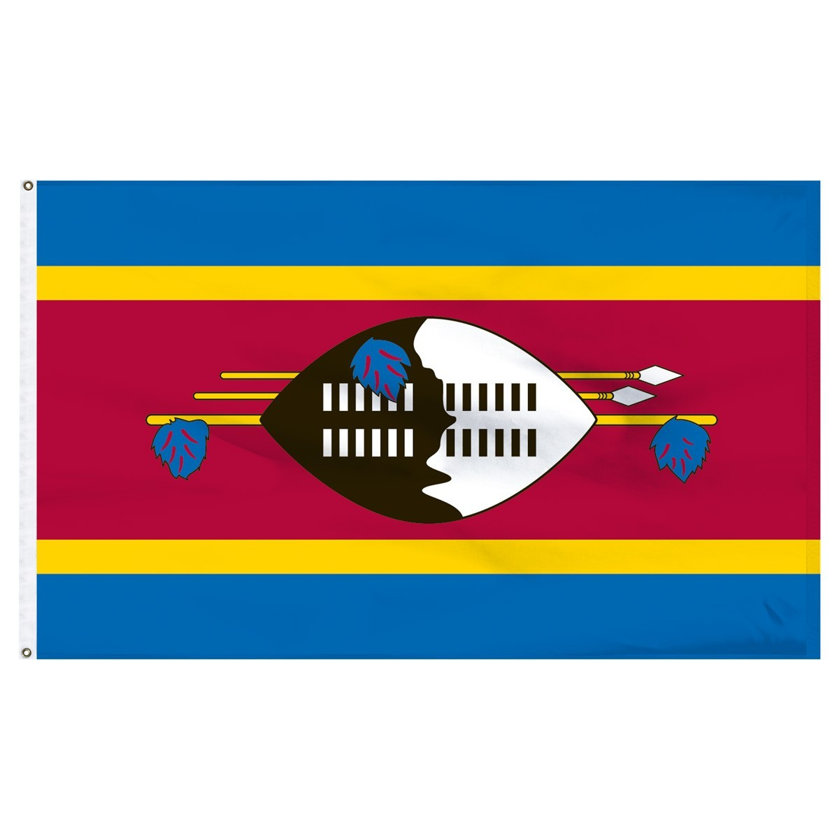 Swaziland 5' x 8' Outdoor Nylon Flag