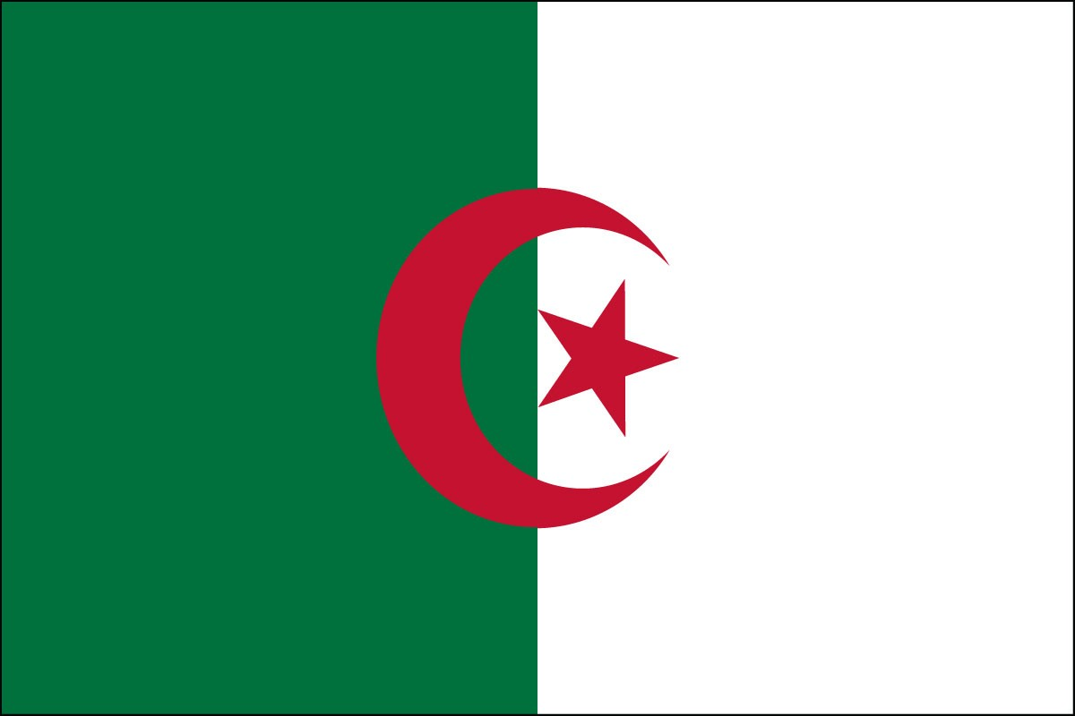 Algeria 2' x 3' Indoor Polyester Country Flag