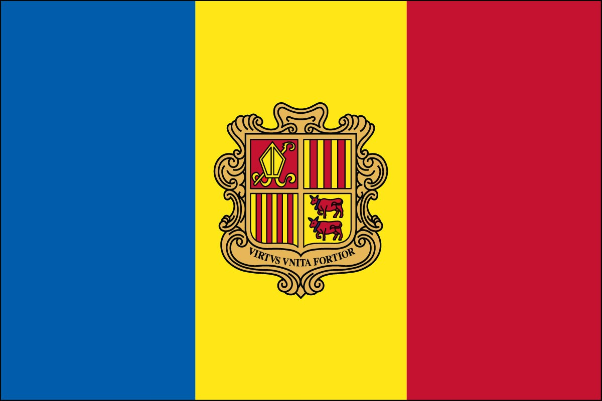 Andorra 2' x 3' Indoor Polyester Flag