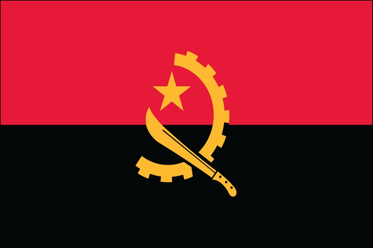 Angola 2' x 3' Indoor Polyester Country Flag