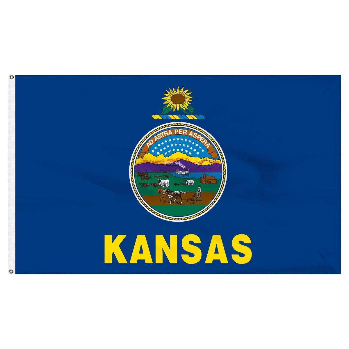 Kansas  2' x 3' Outdoor Nylon Flag