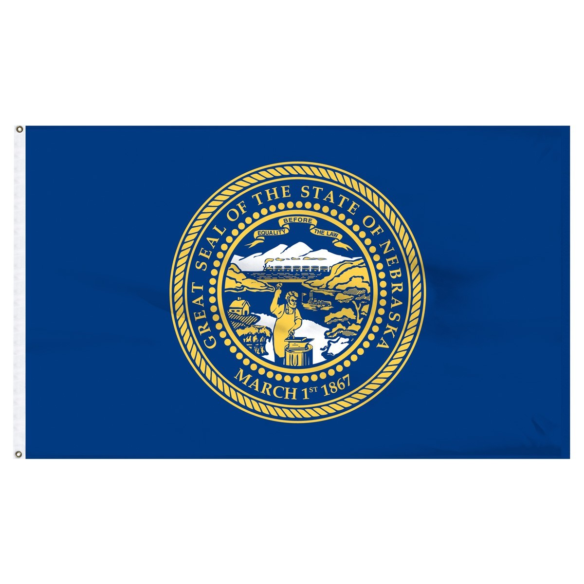 Nebraska  2' x 3' Outdoor Nylon Flag
