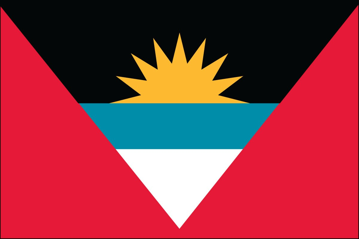 Antigua & Barbuda 2' x 3' Indoor Polyester World Island Flag