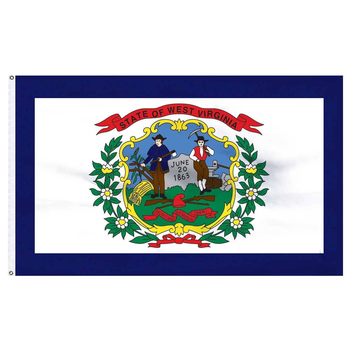 West Virginia  2' x 3' Outdoor Nylon Flag