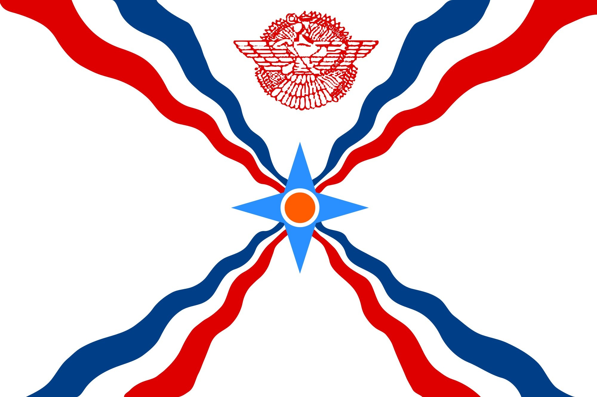 Assyria 2' x 3' Indoor Polyester State Flag
