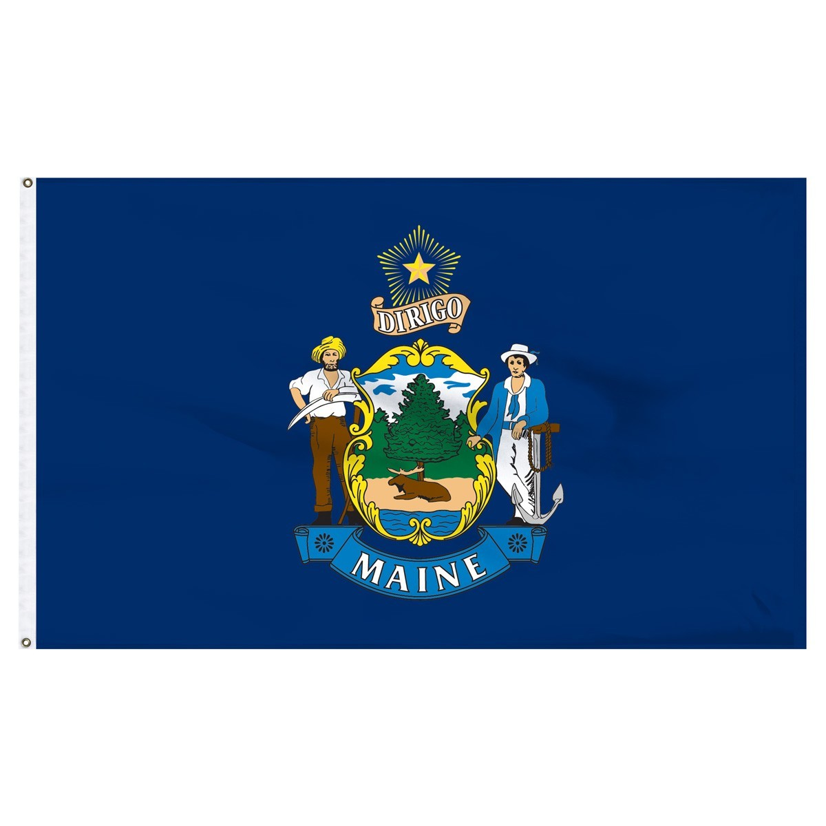 Maine  3' x 5' Outdoor Nylon Flag