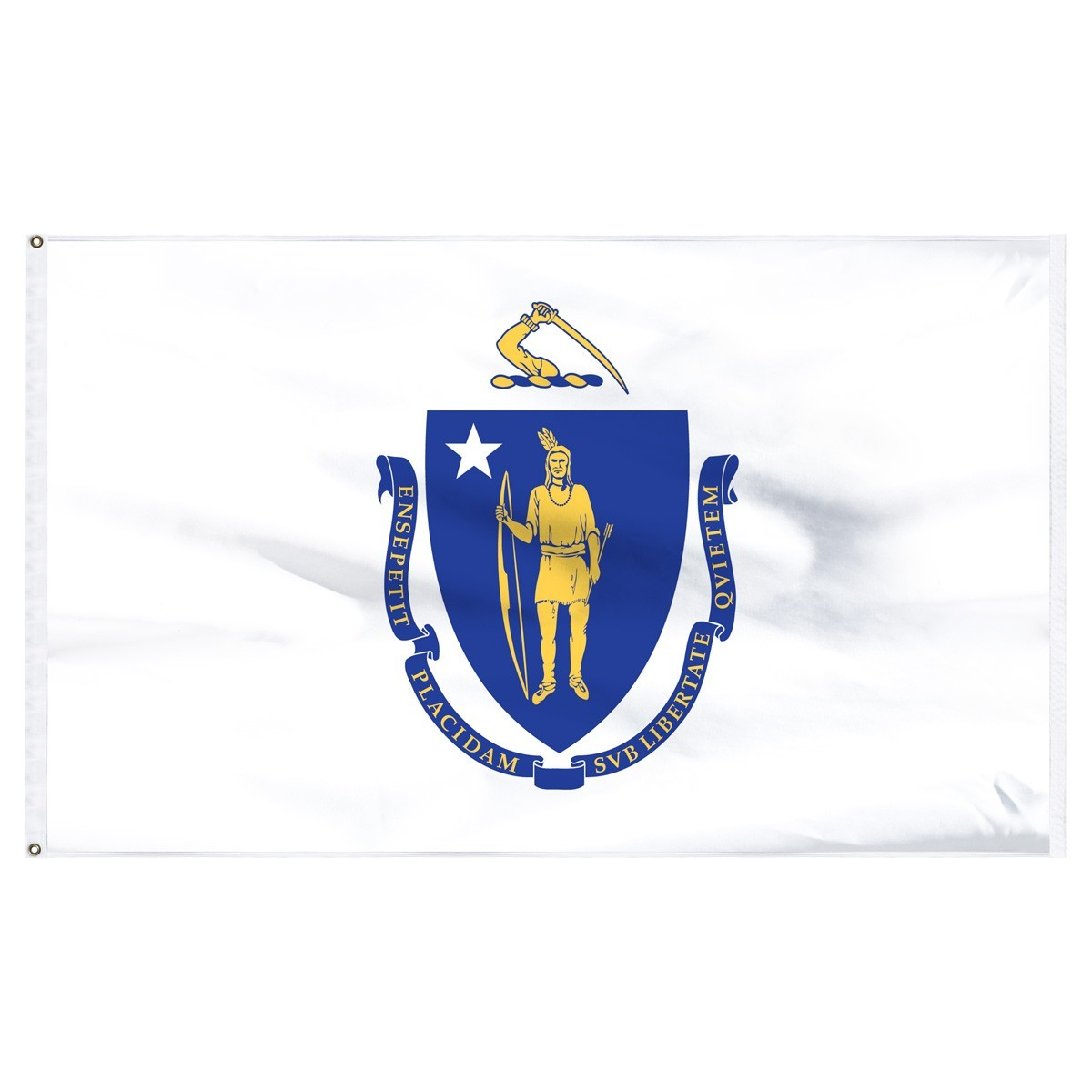 Massachusetts  3' x 5' Outdoor Nylon Flag