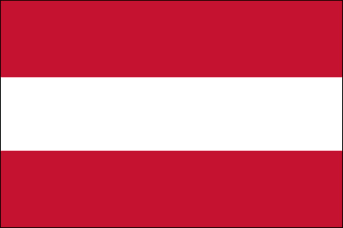 Austria 2' x 3' Indoor Polyester Country Flag