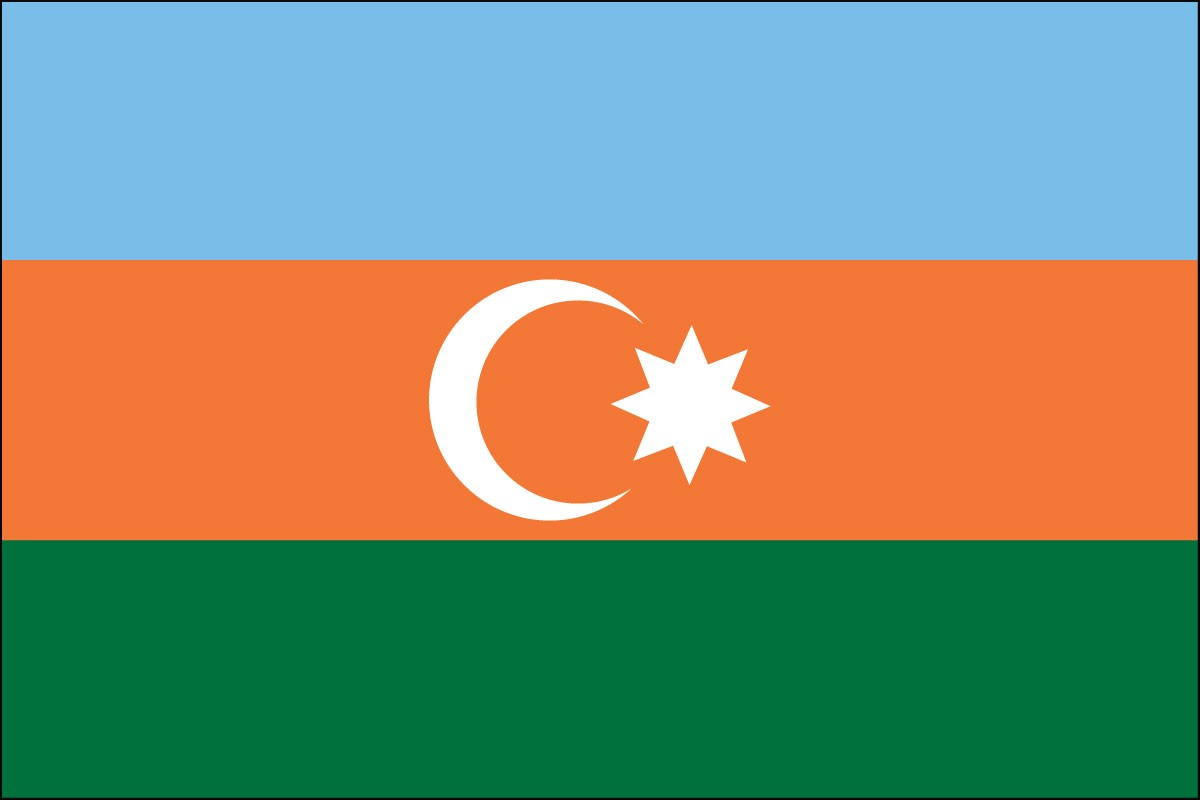Azerbaijan 2' x 3' Indoor Polyester Country Flag