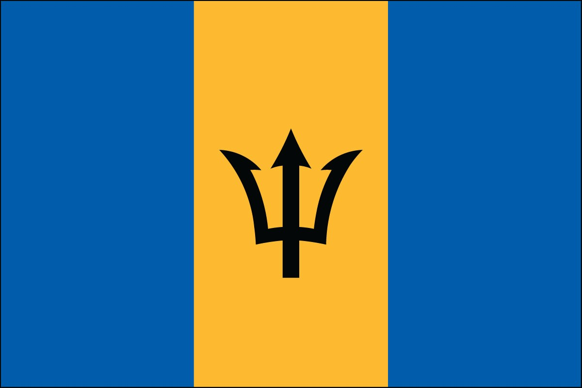 Barbados 2' x 3' Indoor Polyester Country Flag