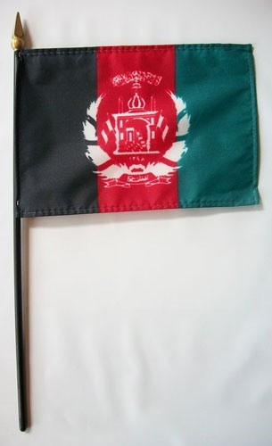 Afghanistan 4x6inch Mini Handheld World Stick Country Flag