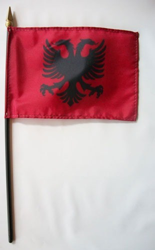 "Albania 4"" x 6"" Mounted Country Flags"