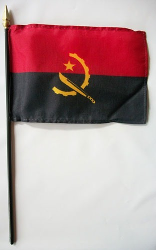 "Angola 4"" x 6"" Mounted Country Flags"