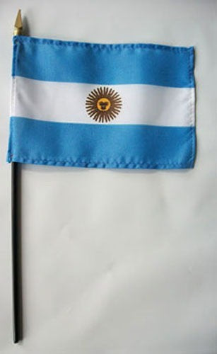 "Argentina 4"" x 6"" Mounted Country Flags"