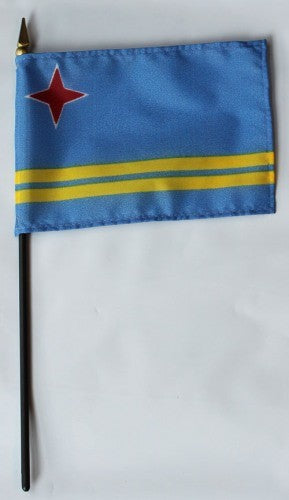 "Aruba 4"" x 6"" Mounted Country Flags"