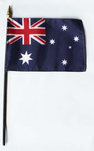 "Australia 4"" x 6"" Mounted Country Flags"
