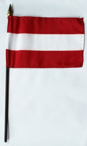 "Austria 4"" x 6"" Mounted Country Flags"