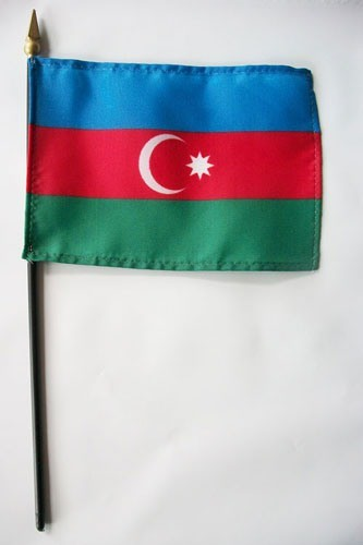 "Azerbaijan 4"" x 6"" Mounted Country Flags"