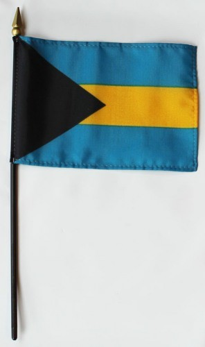 "Bahamas 4"" x 6"" Mounted Country Flags"