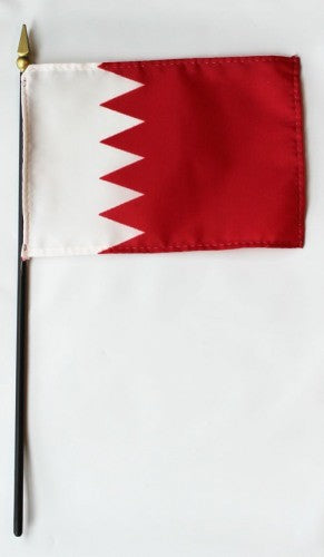 "Bahrain 4"" x 6"" Mounted Country Flags"