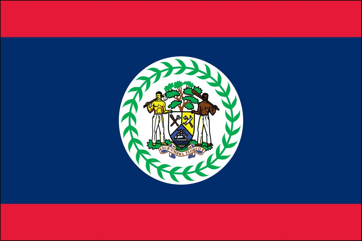 Belize 2' x 3' Indoor Polyester Country Flag