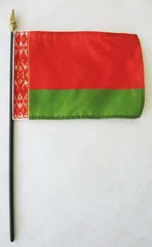 "Belarus 4"" x 6"" Mounted Country Flags"