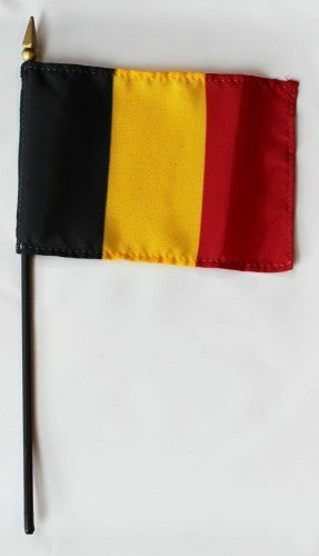 "Belgium 4"" x 6"" Mounted Country Flags"