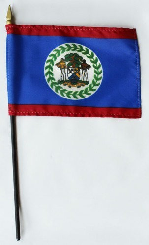 "Belize 4"" x 6"" Mounted Country Flags"