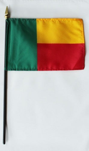 "Benin 4"" x 6"" Mounted Country Flags"