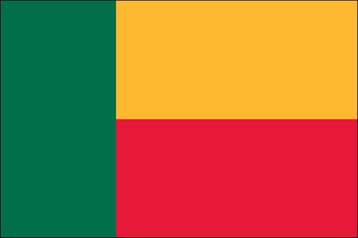 Benin 2' x 3' Indoor Polyester Country Flag